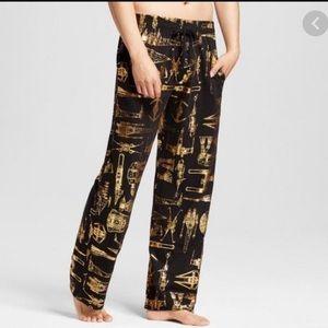 Star Wars Metallic Gold & Black Lounge Pants - S